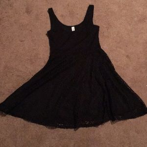 black lacy aeropostale mini dress